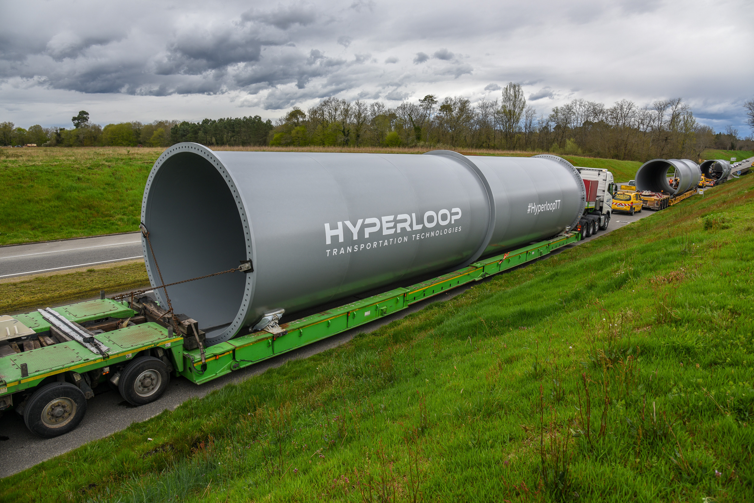 Europe's first hyperloop test track is under construction